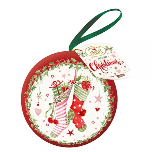 Weiße Weihnacht Baumkugel
