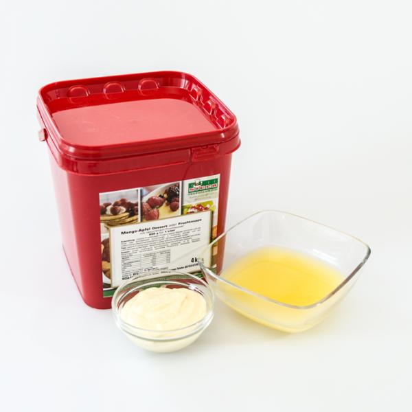 Mango-Apfel-Fruchtsuppe - gelatinefrei-