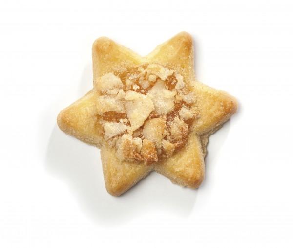 Confiserie-Gebäck - Butter-Bratapfel-Sterne
