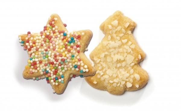 Confiserie-Gebäck Butter Adventsgebäck Bäume und Sterne