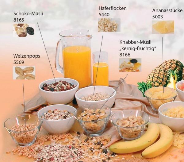 SICCA-Müsli-Mischungen im Portionsbecher