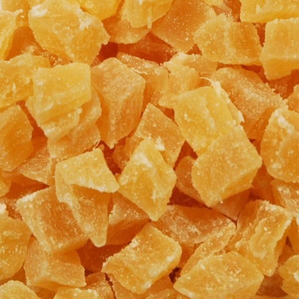 Trockenfrucht Ananas Würfel