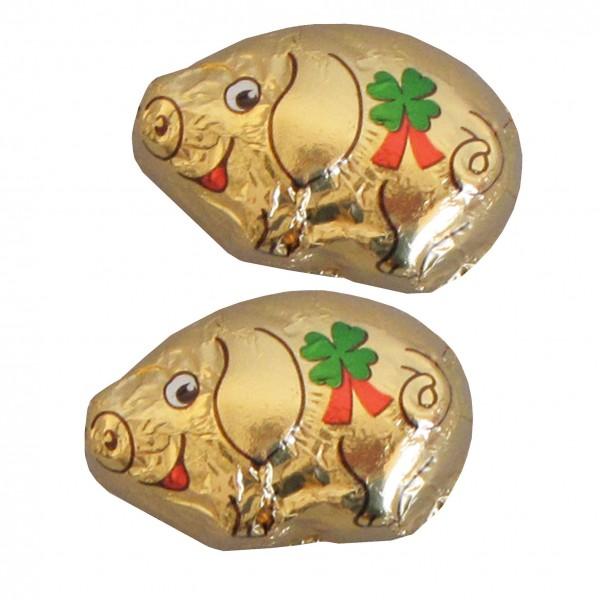 Chocoladen Glücksbringer - Goldschweinchen