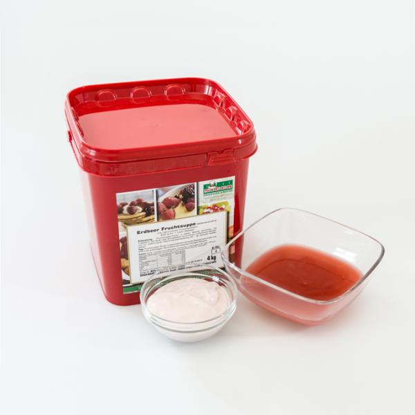 Erdbeer Fruchtsuppe -gelatinefrei-