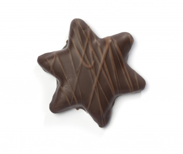 Confiserie-Gebäck - Zimt-Marzipan-Sterne Zartbitter