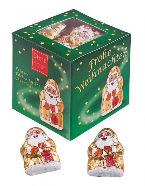 Geschenkwürfel Gold-Santa