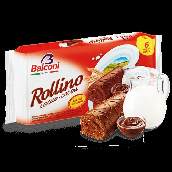 Orig. ital. Biskuitrolle Rollino cacao cocoa