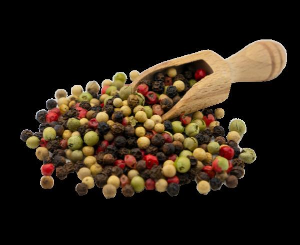 Bunter Pfeffer schwarz-weiß-grün-rot
