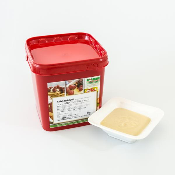 Apfel-Reisbrei gluten- und lactosefrei