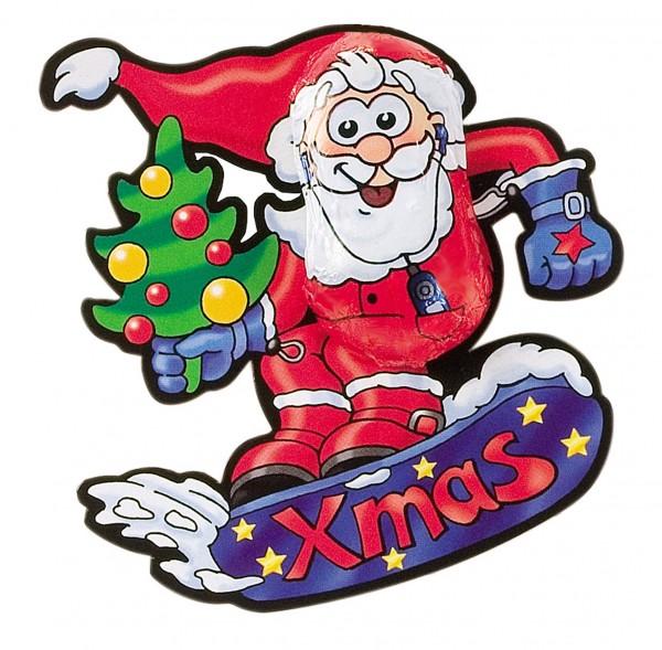 Snowboard-Santa