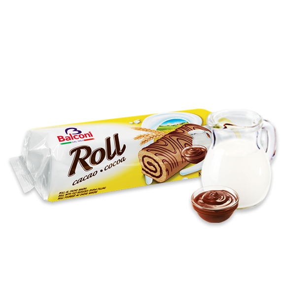 Bisquit-Rouladen Roll cacao cocoa