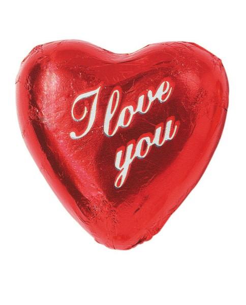 """Rote Herzen mit Aufdruck """"I love you"""""""